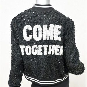 Alice and Olivia x The Beatles Lonnie Sequins